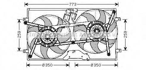 AVA QUALITY COOLING VW7505 Вентилятор системы охлаждения двигателя
