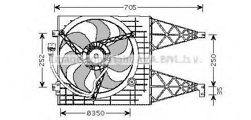 AVA QUALITY COOLING VW7507 Вентилятор системы охлаждения двигателя