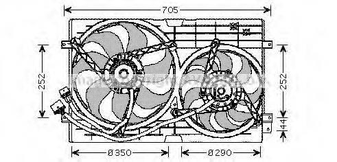 AVA QUALITY COOLING VW7508 Вентилятор системы охлаждения двигателя