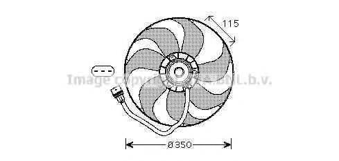 AVA QUALITY COOLING VW7521 Вентилятор системы охлаждения двигателя