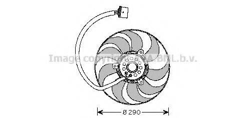 AVA QUALITY COOLING VW7522 Вентилятор системы охлаждения двигателя