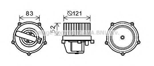 AVA QUALITY COOLING VW8345 Вентилятор салона