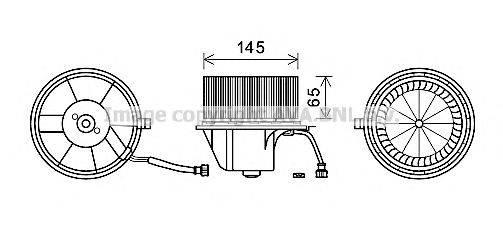 AVA QUALITY COOLING VW8351 Вентилятор салона