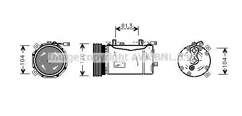 AVA QUALITY COOLING VWAK172 Компрессор кондиционера