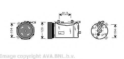 AVA QUALITY COOLING VWK172 Компрессор кондиционера