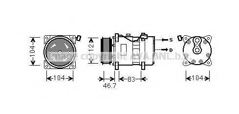AVA QUALITY COOLING VWK288 Компрессор кондиционера