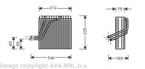AVA QUALITY COOLING VWV030 Испаритель кондиционера