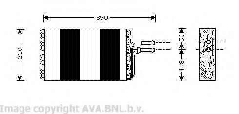 AVA QUALITY COOLING VWV185 Испаритель кондиционера