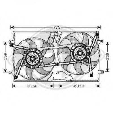 DIEDERICHS 2270101 Вентилятор системы охлаждения двигателя
