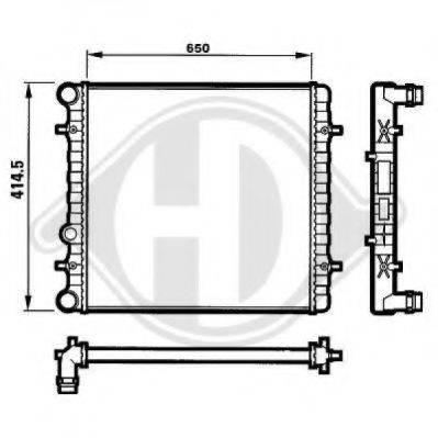 DIEDERICHS 8101151 Радиатор охлаждения двигателя