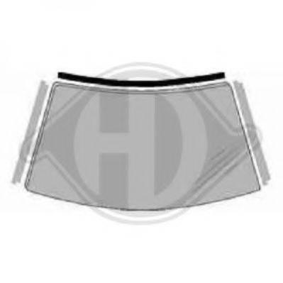 DIEDERICHS 8307617 Облицовка / защитная накладка, ветровое стекло
