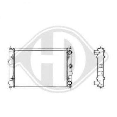 DIEDERICHS 8502109 Радиатор охлаждения двигателя