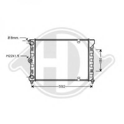 DIEDERICHS 8502620 Радиатор охлаждения двигателя