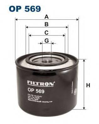 FILTRON OP569 Фильтр масляный ДВС
