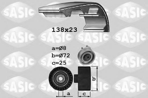 SASIC 1756060 Комплект ремня ГРМ