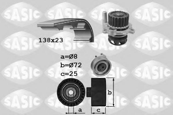 SASIC 3906091 Водяной насос + комплект зубчатого ремня