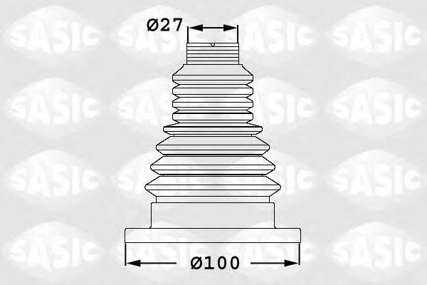 SASIC 1906033 Комплект пыльника ШРУСа