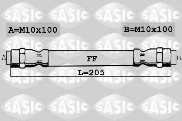 SASIC SBH6377 Тормозной шланг