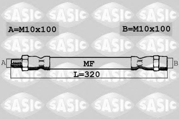 SASIC SBH6379 Тормозной шланг
