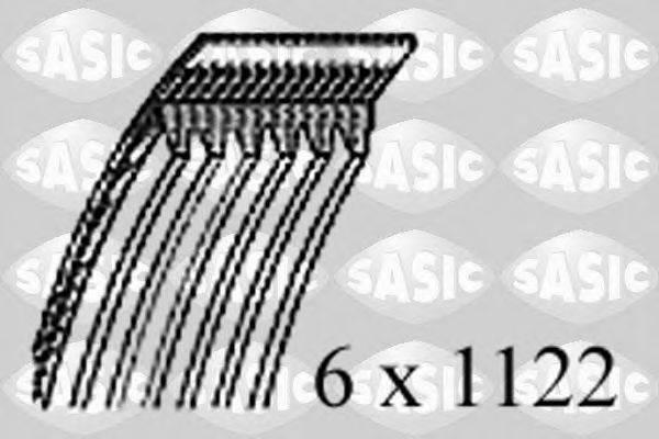 SASIC 1774043 Поликлиновой ремень