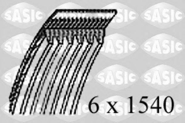 SASIC 1776074 Поликлиновой ремень
