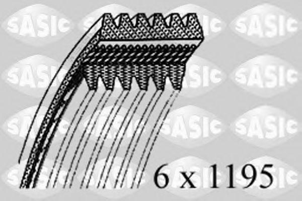 SASIC 1776101 Поликлиновой ремень