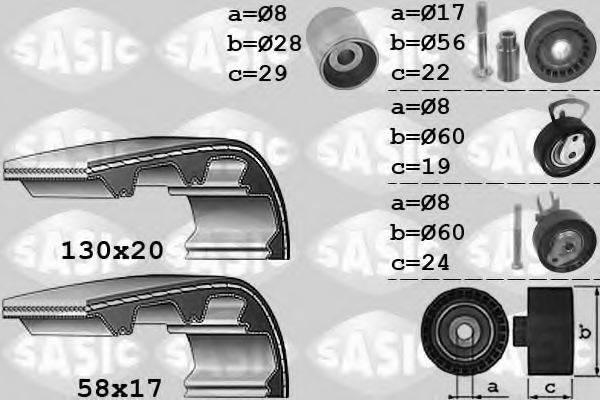 SASIC 1756050 Комплект ремня ГРМ