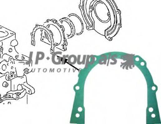 JP GROUP 1119100100 Прокладка, крышка картера (блок-картер двигателя)