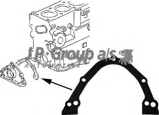 JP GROUP 1119100300 Прокладка, крышка картера (блок-картер двигателя)