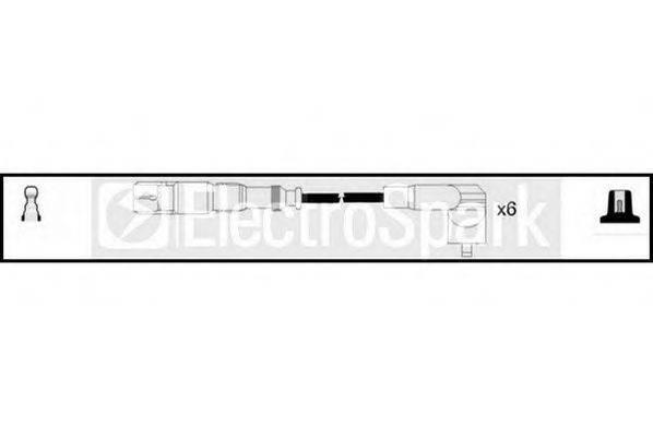 STANDARD OEK722 Комплект проводов зажигания