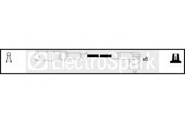 STANDARD OEK612 Комплект проводов зажигания