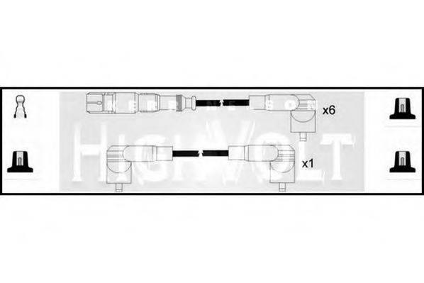 STANDARD OEF766 Комплект проводов зажигания