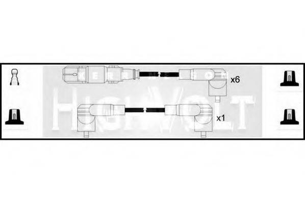 STANDARD OEF119 Комплект проводов зажигания