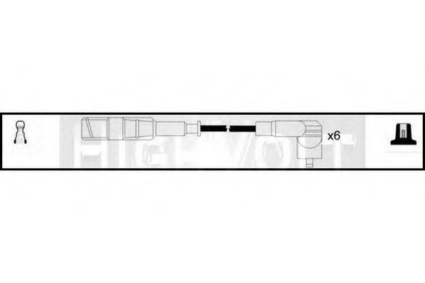 STANDARD OEF693 Комплект проводов зажигания