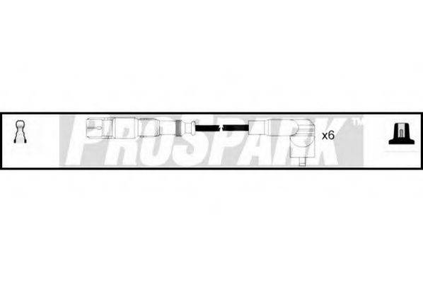 STANDARD OES1153 Комплект проводов зажигания
