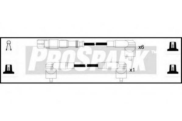 STANDARD OES1156 Комплект проводов зажигания