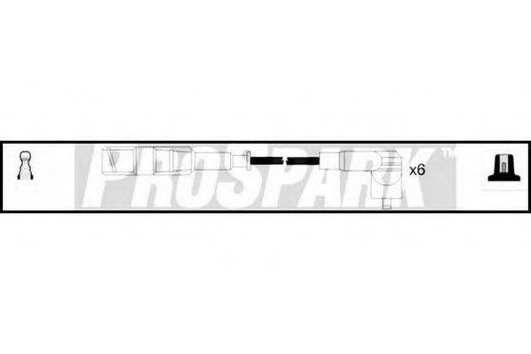 STANDARD OES529 Комплект проводов зажигания