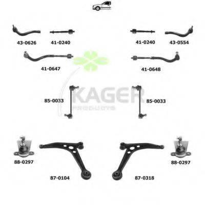KAGER 800366 Подвеска колеса