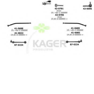 KAGER 801022 Подвеска колеса