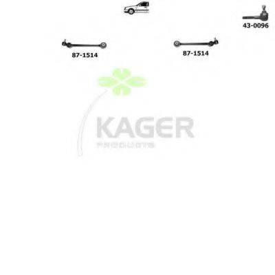 KAGER 801023 Подвеска колеса