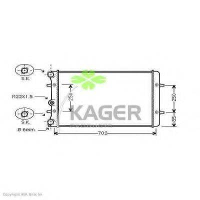 KAGER 310033 Радиатор охлаждения двигателя