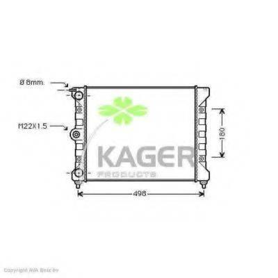 KAGER 311174 Радиатор охлаждения двигателя