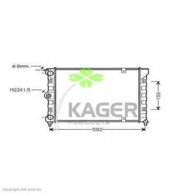 KAGER 311186 Радиатор охлаждения двигателя