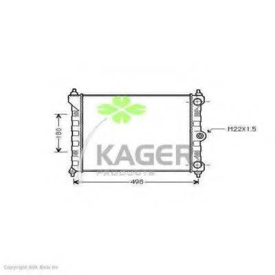 KAGER 311189 Радиатор охлаждения двигателя