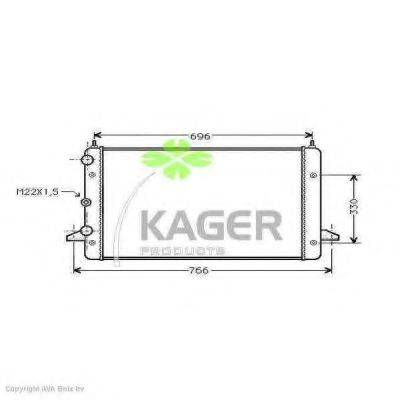 KAGER 311213 Радиатор охлаждения двигателя