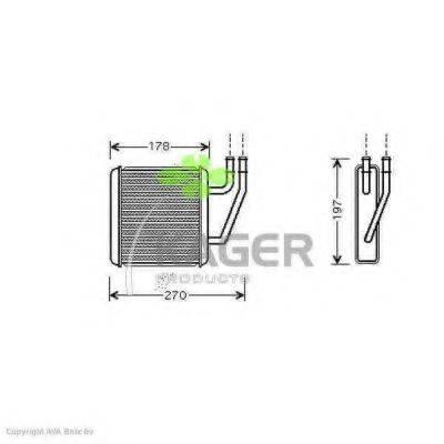 KAGER 320348 Радиатор печки