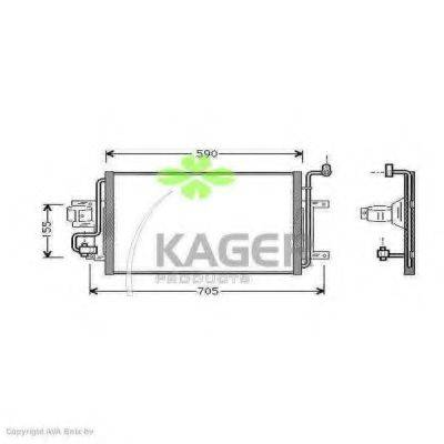 KAGER 945006 Конденсатор кондиционера