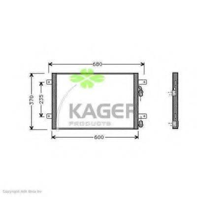 KAGER 945396 Конденсатор кондиционера
