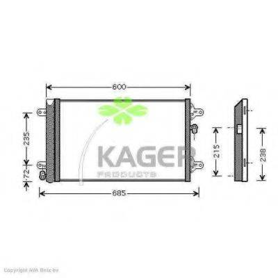 KAGER 945402 Конденсатор кондиционера