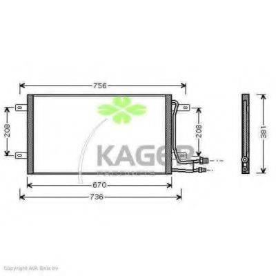 KAGER 945403 Конденсатор кондиционера